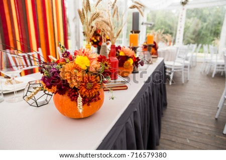 Wedding decorations with Autumn theme / Autumn wedding