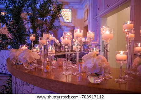 wedding decorations with flowers. picture with soft focus #703917112