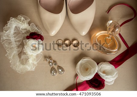 Wedding details. Bride accessories #471093506