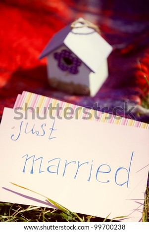 Wedding details, just married