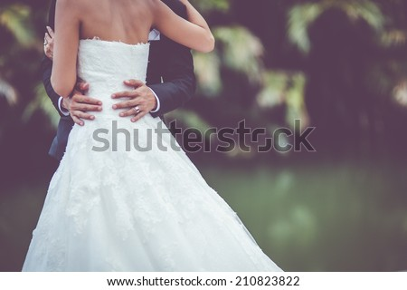 wedding dress and wedding gown