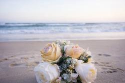 Wedding flower on beach