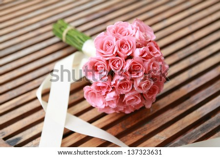 wedding flowers from pink rose flower.