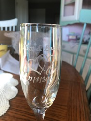 Wedding glass etched to capture moment in time