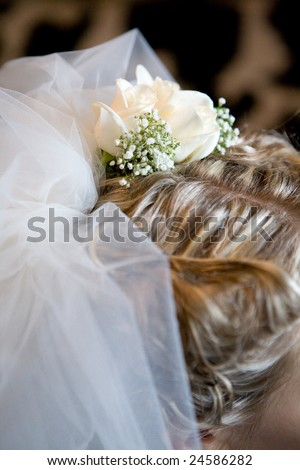 wedding hairstyle with rose