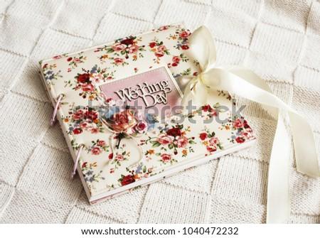 wedding handmade album. Handmade album in vintage style #1040472232