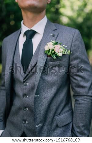 wedding, husband, handsome man, handsome suit