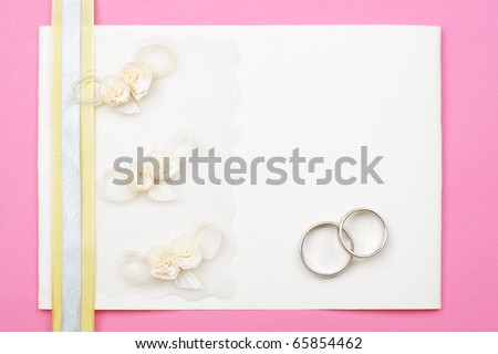 stock photo Wedding invitation background with copy space