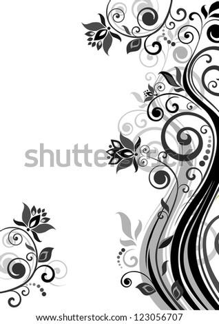 Wedding invitation. Raster copy of vector image