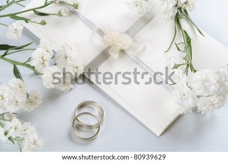stock photo Wedding invitation romantic background with delicate Perry's
