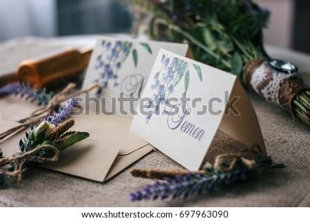 Wedding invitations and decoration #697963090
