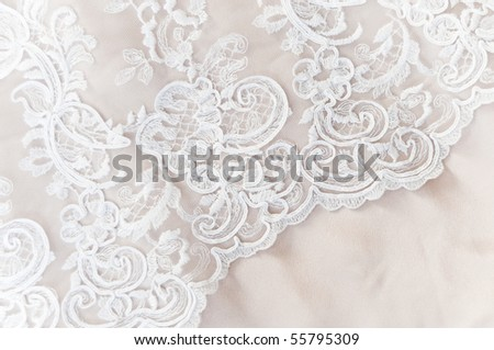 stock photo Wedding lace