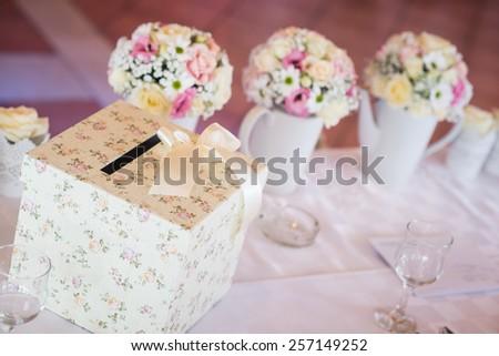 Wedding money box. Wedding envelope box, wedding table decoration.