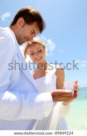 Wedding on a white sandy beach
