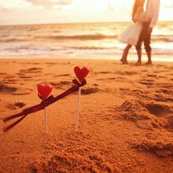 wedding on the beach, honeymoon