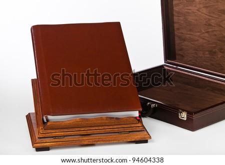 Wedding photo album with portfolio and reading desk.