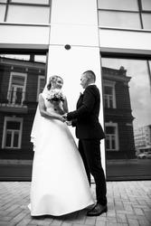 Wedding photo.Bride and groom.Sensual wedding photos.Embracing girl