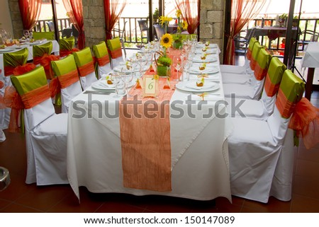 wedding place on the restaurant