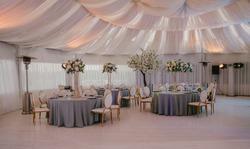 Wedding reception in grey. Wedding decor. decor
