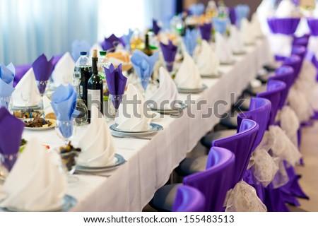 Wedding reception. Restaurant.
