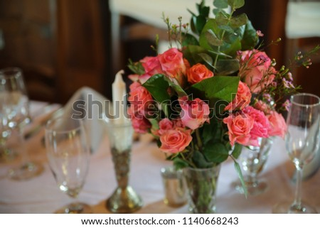 Free photos table centerpiece floral arrangement at luxury event