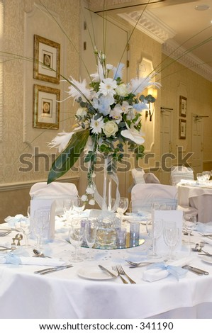 Vintage Wedding Decorations on Wedding Reception Table Decorations Stock Photo 341190   Shutterstock