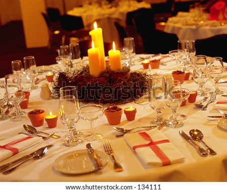 Wedding Table Settings on Wedding Reception Table Setting Stock Photo 134111   Shutterstock