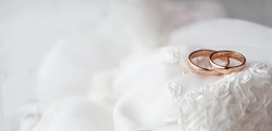 WEdding ring as wedding symbol. COpy space