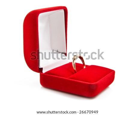 stock photo wedding ring on white background
