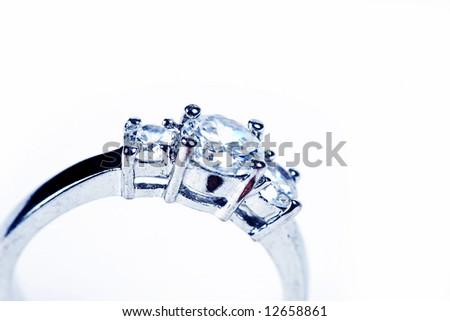 Wedding Ring or Engagement Ring on white