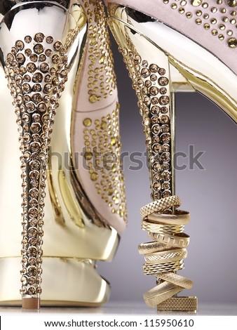 Wedding rings and high heels