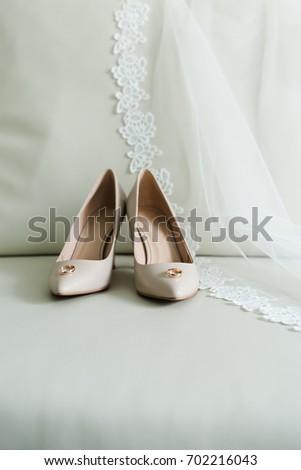 wedding rings, Bride's shoes, Wedding details #702216043