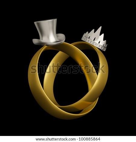 Wedding Rings Logo Wedding Rings Conceptual