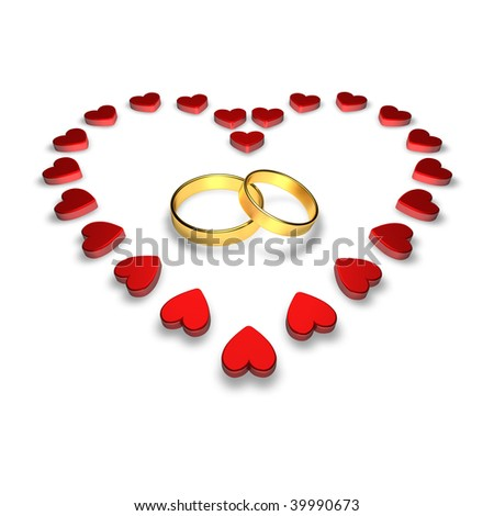 Gold Wedding Rings With Hearts