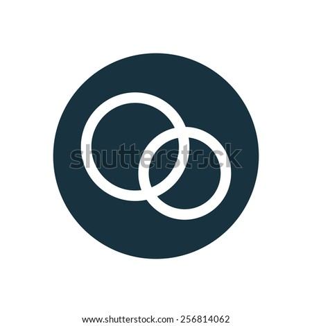 Wedding Rings Icon On White Background Ez Canvas