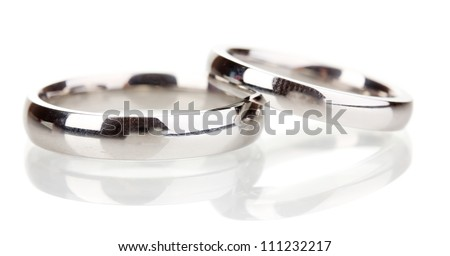 Wedding rings isolated on white