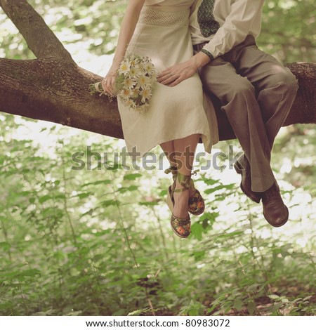 wedding romantic - stock photo