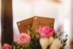Wedding seating plan name tags. Decorated in a very pinterest inspired way. inspiration for your big day