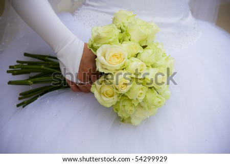 Wedding series 80. Bouquet From Yellow Roses.