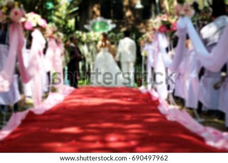 wedding set up in garden