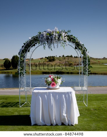 Wedding Setup at a Golf Course