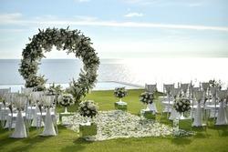 wedding setup flowers