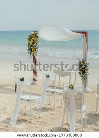 Wedding setup on the beach Foto d'archivio ©