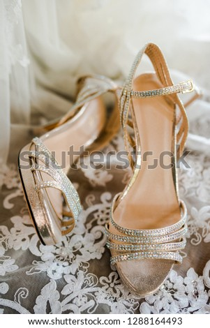 wedding shoes detail #1288164493