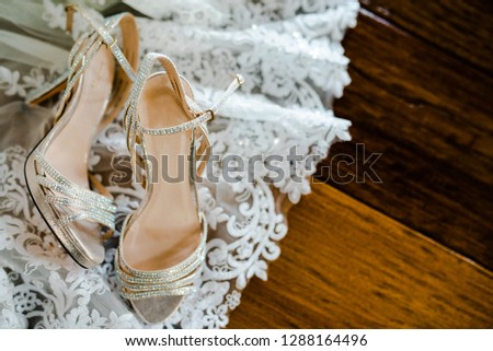 wedding shoes detail #1288164496