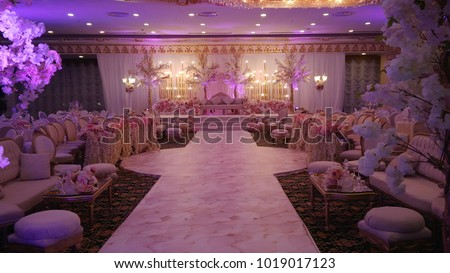 wedding stage decoration #1019017123