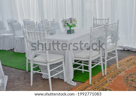 Wedding table and chairs decoration