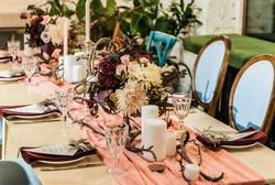 Wedding table. Autumn wedding