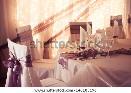 wedding table - colorized photo