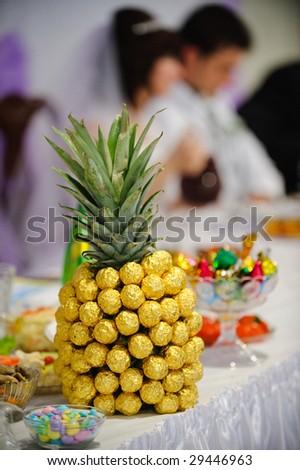 stock photo Wedding table decoration